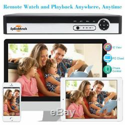 1080N 16CH DVR Record CCTV Home Security IR-CUT 8Dome Camera H. 264 System HD Kit