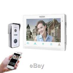 10 Inch Wireless/Wifi Smart IP Video Doorbell Intercom System, 1xTouch Screen Mo