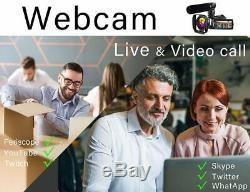 4K Camcorder Vlogging Video Camera Ultra HD 60FPS Digital Recorder YouTube Camer