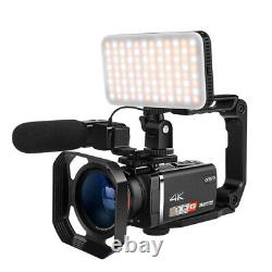 4K ORDRO Vlog Video Camera 100X Digital Zoom Camcorder Recorder With Controller