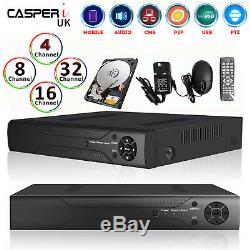 4/8/16/32 CH CCTV DVR Digital Video Recorder TVI AHD 1080P CASPERi Remote View