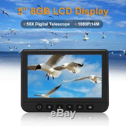 5 TFT 50x Digital Telescope HD 1080P Binoculars Video Photo Recorder + 8GB Card