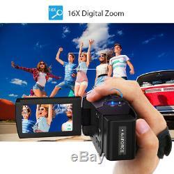Andoer 4K 1080P 48MP WiFi Digital Video Camera DVR Camcorder Recorder+Lens+Mic