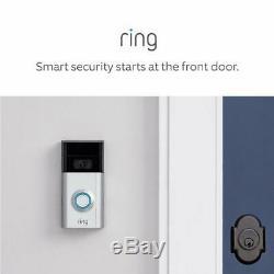 Brand New Ring Video Doorbell 2, 1080p Wifi, Satin/Nickel, 2 way Talk