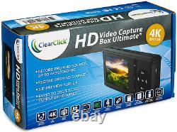 ClearClick HD Video Capture Box Ultimate 4K Edition HDMI Recorder VHS To Digital