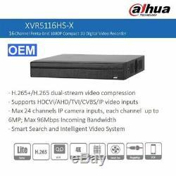 Dahua OEM XVR5116HS-X 16CH XVR DVR Hybrid 5in1 P2P Digital Video Recorder