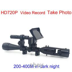 Digital Infrared Rifle Scope 4.3 Monitor with Flashlight Torch Video Recorder
