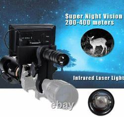 Digital Infrared Rifle Scope + Flashlight Video Recorder 200-400M Visual Range