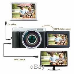 Digital Video Vlogging YouTube Camera Camcorder Recorder 3.0 Inch Flip Screen HD
