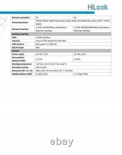 HiLook Hikvision 4 8 16CH UHD DVR 5MP 8MP CCTV Digital Video Recorder Remot view