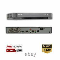 Hikvision DS-7208HQHI-K1 8 Channel Turbo HD Hybrid Digital Video Recorder 3MP