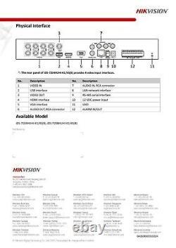 Hikvision Dvr Cctv Security 8mp 8ch Turbo Hd Digital Video Recorder Tvi
