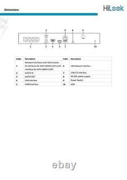 Hikvision Nvr 4k 8mp Ip Poe Cctv Digital Network Video Recorder 4ch Nvr-104mh-c/