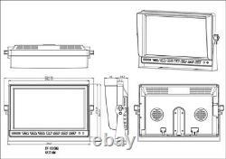 ICustodian iC7100LDC-MDVR Hybrid 1080P HD 9 LCD Screen Video Recorder 4 Camera
