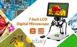 LCD 7 inch HD USB Digital Microscope with 1200X Magnification & Video Recorder
