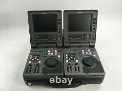 Lot of 2 SONY DNW-A25 BETACAM SX PORTABLE DIGITAL RECORDER EDITOR UNTESTED