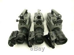 Lot of 3 Sony DSR-250 Digital Video Camera Recorders Working Condition Unknown