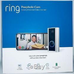 New Ring Peephole Cam Smart video doorbell, HD video, 2-way talk