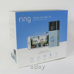 New Ring Video Doorbell 2 Wireless HD 1080p Security Cam Satin Nickel / Bronze