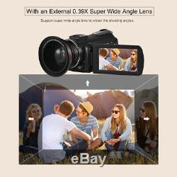 ORDRO AC3 4K WiFi Digital Video Camera Camcorder 24MP 30X IR DV Recorder L1E7