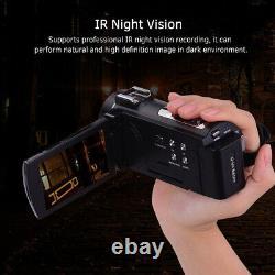 ORDRO HDV-AE8 4K WiFi Digital Video Camera Camcorder DV Recorder 30MP 16X Q5U8