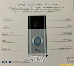 ORIGINAL RING Doorbell 2, 1080 HD Factory Sealed! Bronze & Nickel in One Package