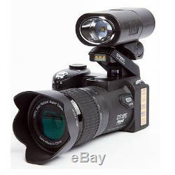 POLO D7200 33MP HD 1080P Digital Camera +3 Lens +LED light DSLR Video Recording