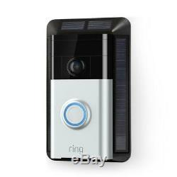 RING Doorbell 2, 1080 HD Factory Sealed! Bronze + Nickel in Pkg + Solar Charger