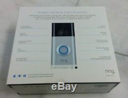 Ring Video Doorbell 2 8VR1S7-0EN0 1080 HD Wireless Silver/Satin Nickel