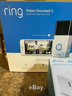 Ring Video Doorbell 2, Amazon Echo Show 5, Amazon Smart Plug, TP Link Smart Plug