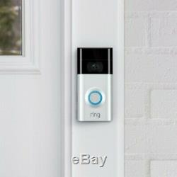 Ring Video Doorbell 2 Wire-Free Satin Nickel NEW SEALED Free Returns