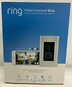 Ring Video Doorbell Elite 1080HD Power Over Ethernet, 8VR1E7-0EN0