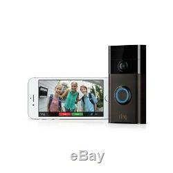Ring Video Doorbell Wireless Wifi Built-in Speaker 2-Way Talk Water Proof NEW V1