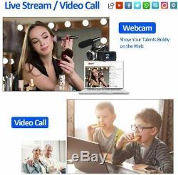 SAULEOO 4K Video Camera Camcorder Digital YouTube Vlogging Camera Recorder UHD