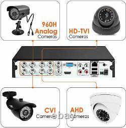 Smart CCTV DVR Recorder 5MP 4/8/16 Channel AHD Video HDD Camera System 4K HD UK