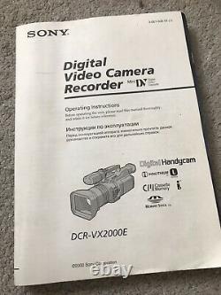 Sony DCR-VX2000E Digital Video Camera Recorder