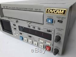 Sony Digital Video Cassette Recorder DSR-25 DVCAM 1x10 Drum hrs MINI DV 1394