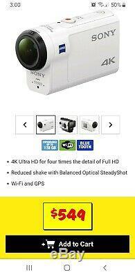 Sony FDR-X3000 Digital 4K Video Camera Recorder White