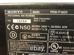 Sony PDW-F1600 Professional Disc Recorder XDCAM HD Digital Video Recorder