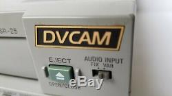 Sony digital video cassette recorder DSR-25 DVCAM 26x10 Drum hours NTSC PAL