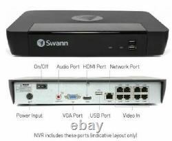 Swann Digital IP NVR 8580 8 Channel Network Video CCTV Recorder 4K Ultra HD 1TB