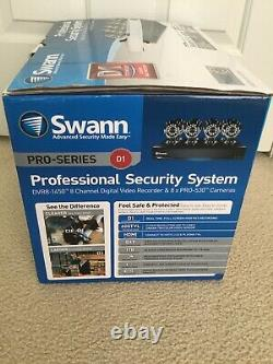 Swann Professional Security System 8 Channel Digital Video Recorder & 8x Cameras