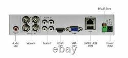 Swann Smart CCTV DVR 4 Channel AHD 1080P Video Recorder HD VGA HDMI BNC NO HDD