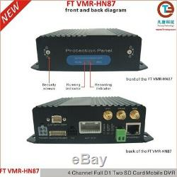 Vehicle CCTV Mobile Digital Video Recorder 2 x 128Gb SD Taxi Truck Boat