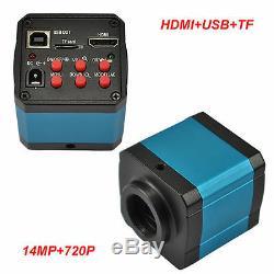 14mp 1080p Hdmi Usb Numérique C-mount Industrie Microscope Caméra Tf Enregistreur Vidéo