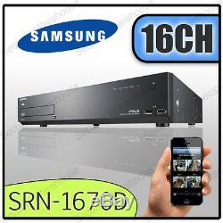 16ch Samsung Srn-1670d 16 Canaux Nvr Cctv Enregistreur Vidéo Numérique Réseau Dvr