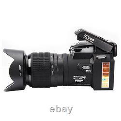 1x D7200 33mp Hd 1080p Appareil Photo Numérique 3 Objectif + Led Lumière Reflex Numérique Enregistrement Vidéo
