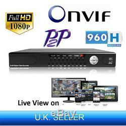 24 Canaux 1080p Full Hd 960h Onvif P2p Nvr Enregistreur Vidéo Numérique En Réseau Hdmi