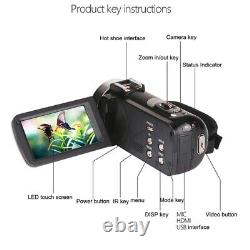 48 Mégapixels 4k Digital Camera Wifi Wedding DV Live Video Recorder Avec Ext B4m3