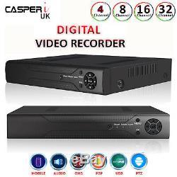 4/8/16/32 Ch Cctv Dvr Enregistreur Vidéo Numérique Tvi Ahd 1080p Casperi Remote View